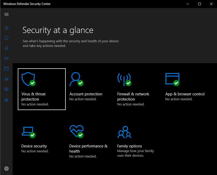 Windows Defender Security Center needs new Firewall Policies